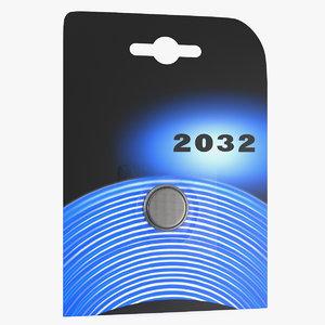 3D cr2032 battery pack 3