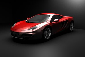 3D mc laren mp4 model