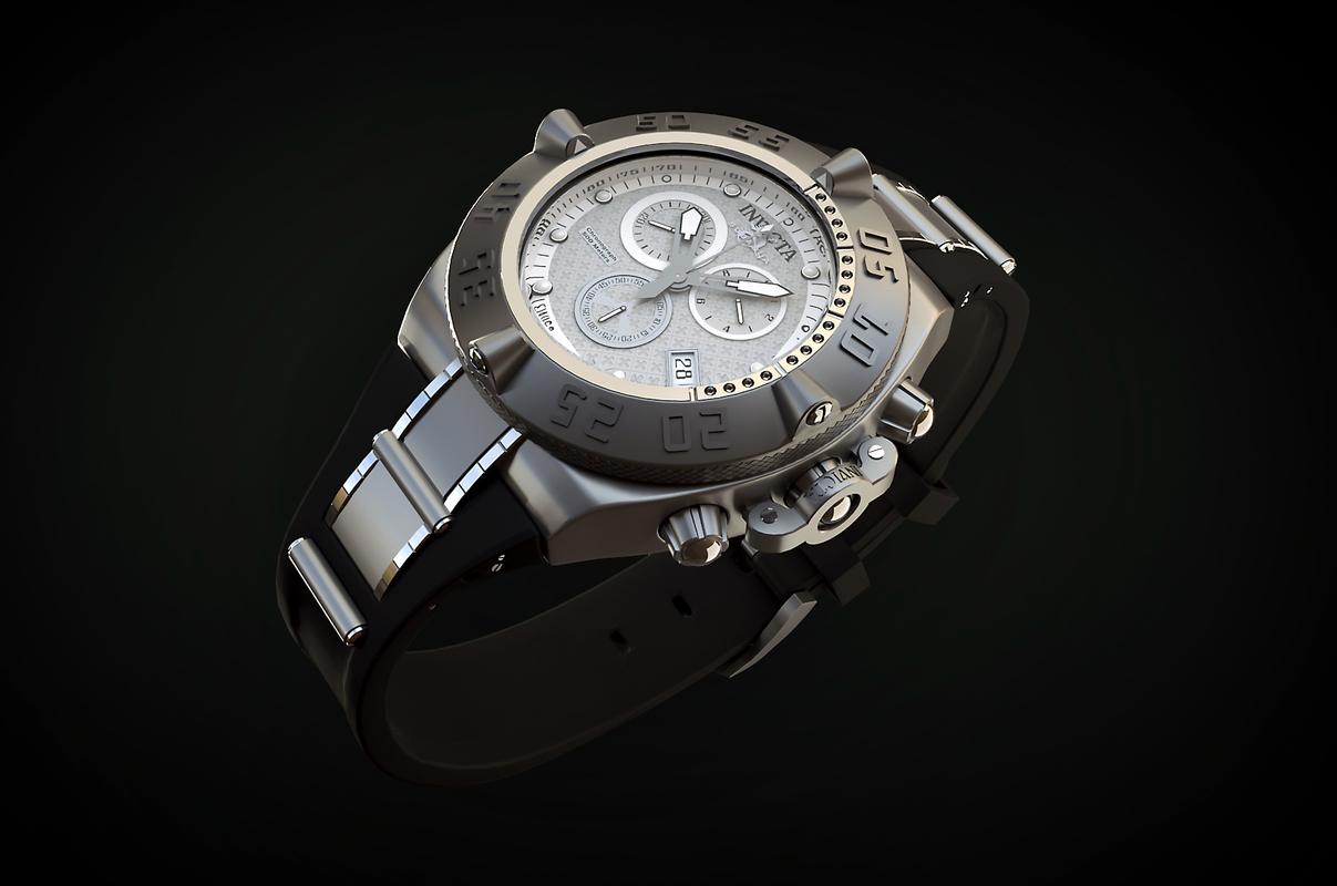 3D swiss watch invicta 16143