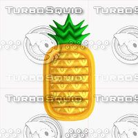 realistic inflatable pineapple pool 3D model