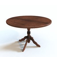 Rustic Wood Round Table