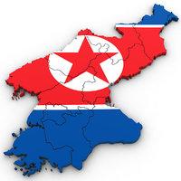 north korea 3D model