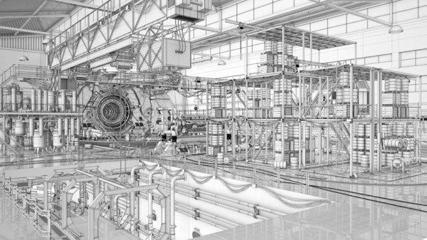 factory industrial model
