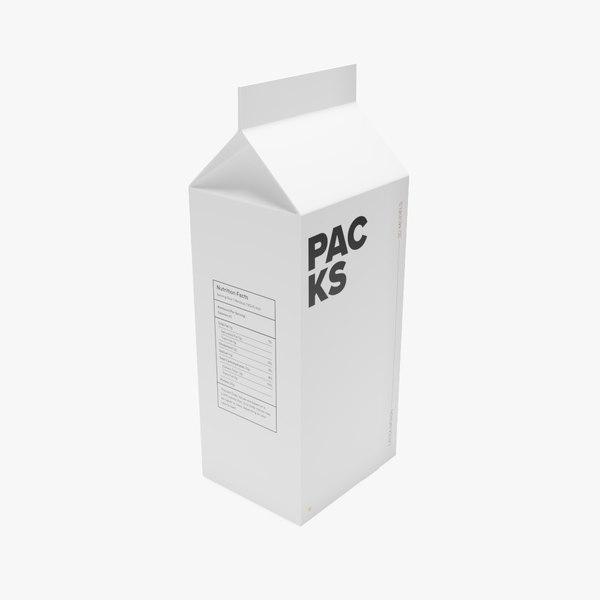 milk carton model
