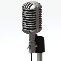 mic vintage 3d max