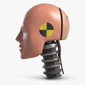 3D crash test dummy robot head