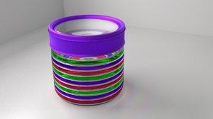food canister 2 - 3D model
