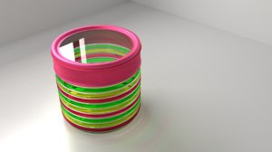 3D food canister 3 -