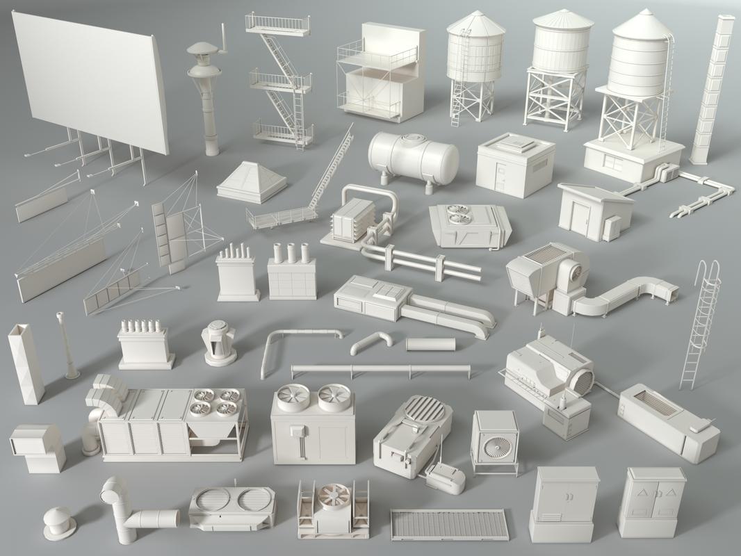 rooftop roof r 3D model