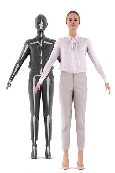 3D photorealistic human rig