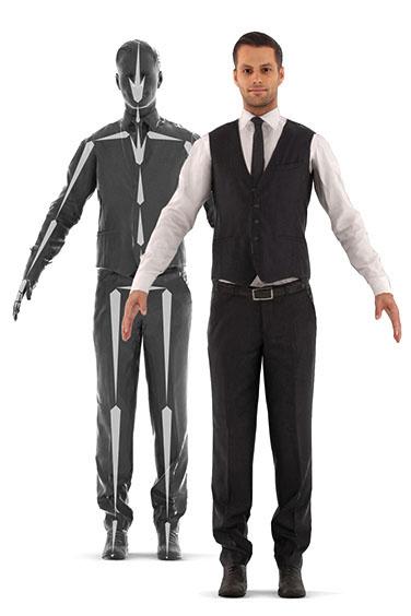 photorealistic human rig 3D