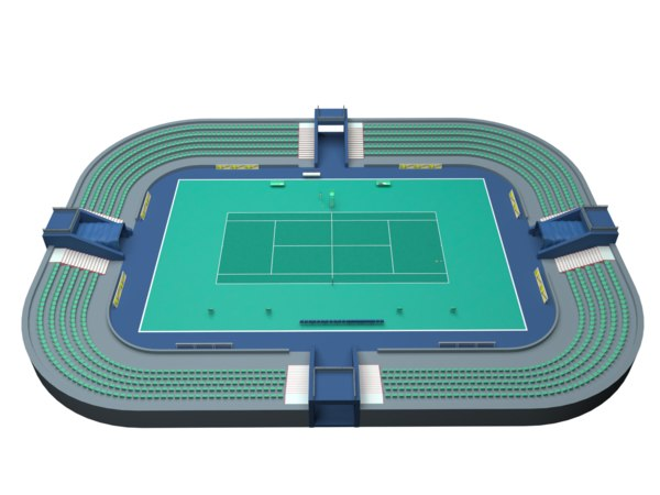 tennis court 3D model