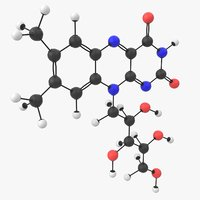 vitamin b2 riboflavin molecule 3D model