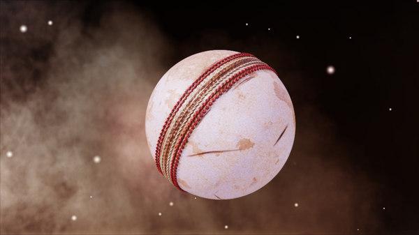 white cricket ball 3D model