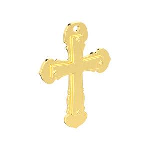 3D model double cross pendant