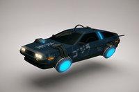 Cyberpunk Flying Car DeLorean