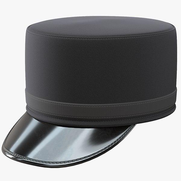 pillbox kepi hat 3D model
