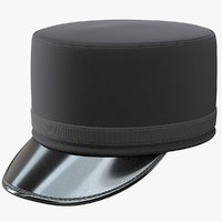 pillbox kepi hat 3D model