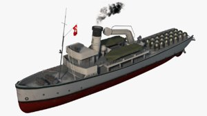 ottoman minelayer nusrat 3D model