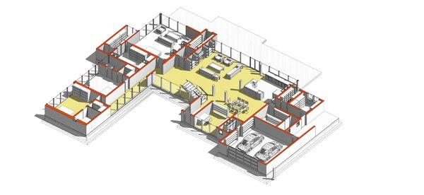 villa revit 3D model