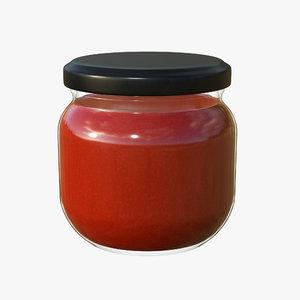 3D jar sauce model