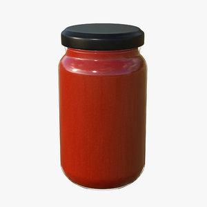 3D jar sauce