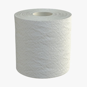 toilet paper single 3D model