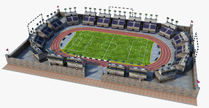 3D soccer stadium model