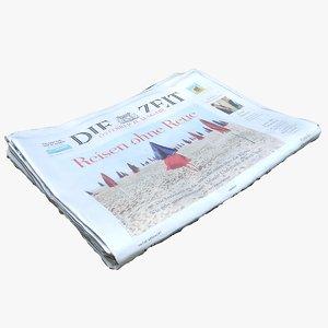 3D newspaper model