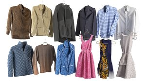 3D set clothing wardrobe