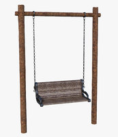 bench swing wood model