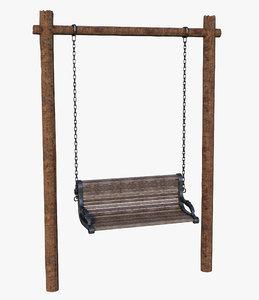 bench swing wood model