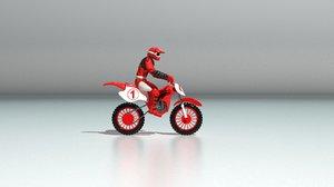 3D model toy biker