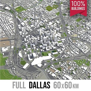 3D dallas city town model