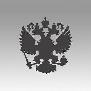 russian coat arms 3D model