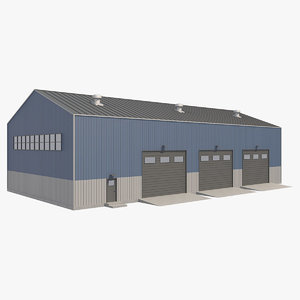 3D building industrial model