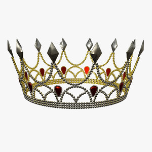 crown crystal gold 3D model