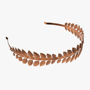 3D laurel headband