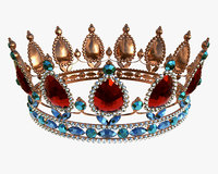 Queen crown with jewel