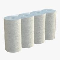 3D toilet paper pack model