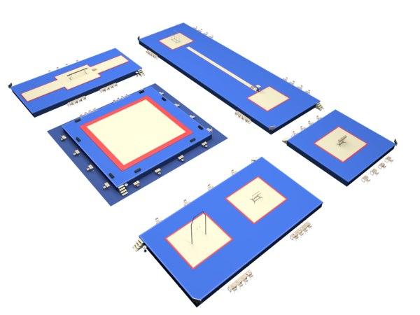 3D gymnastic floor arena