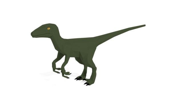 velociraptor dinosaur model