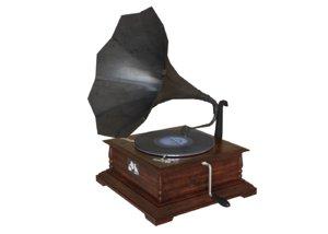 3D grammophon horn model