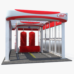 3D model automatic car wash auto