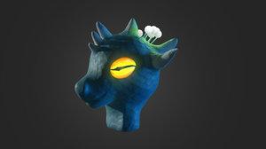 dragons head 3D model
