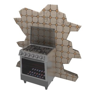 stylized kitchen stove model