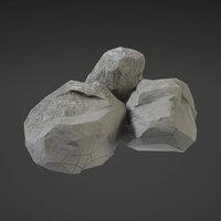 3D rock nature stone