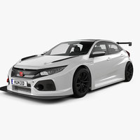 honda civic tcr 3D model