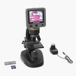 3D lcd digital microscope celestron model
