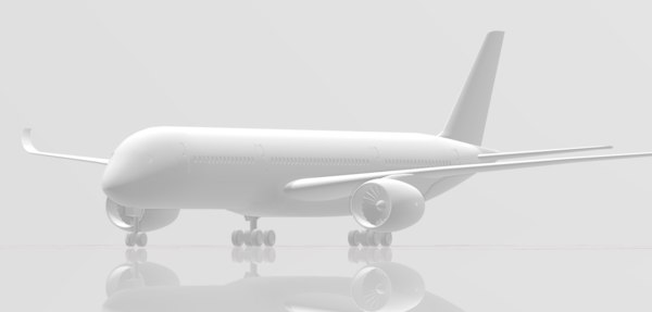 scale airbus airplane printing 3D model